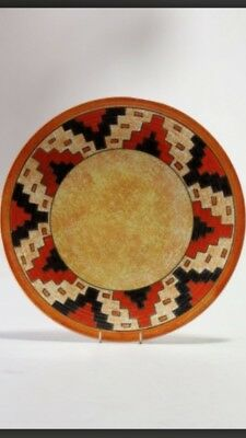Crown Ducal Charlotte Rhead Charger Aztec Pattern Signed!