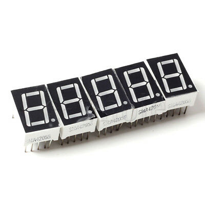 "5X 0.56"" Inch 7 Segment LED Display Rot Numerische Digital Anzeige BL"