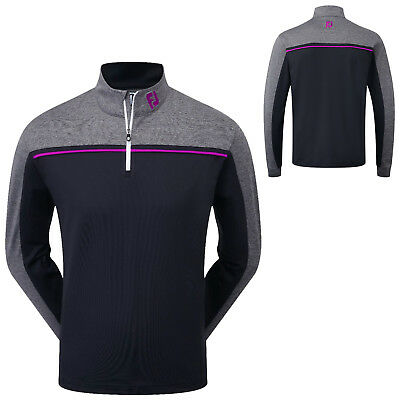 FootJoy Mens Chill Out Chest Piped Pullover - New FJ Golf Sweater Long Sleeve