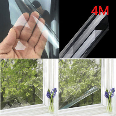 Safety & Security Window Film Clear Glass Protection Anti Shatter 76cm x 4m