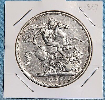 1887 UK Double Florin minimally circulated condition & highly collectible