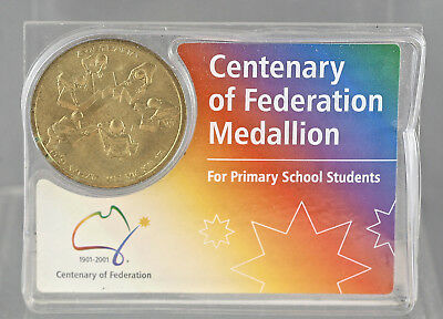 Centenary Of Federation Medallion For Primary School Students 1901-2001