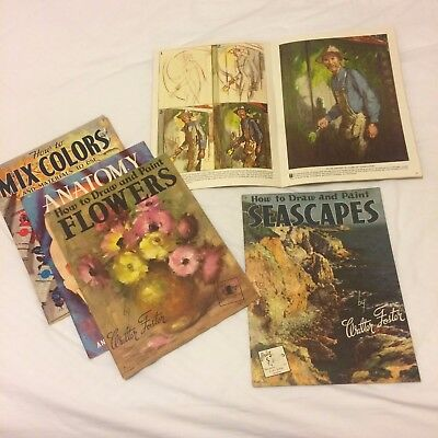 Walter Foster Drawing & Painting Books x 5