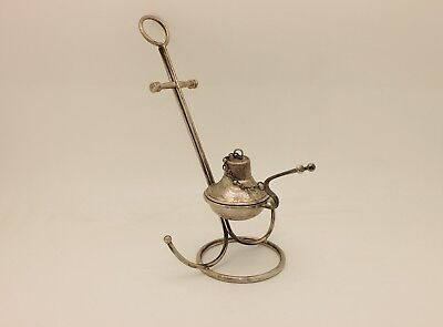 Antique Original Silver Handmade  Small Amazing Fire Kettle