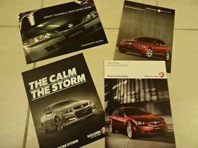 Holden Commodore Brochures - FOUR Limited Edition Models - Storm, Equip etc