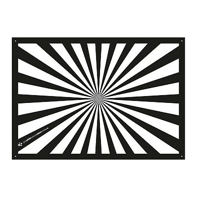 The Back Focus Test Card for video and cinematography - A4 size (210mm x 297mm)
