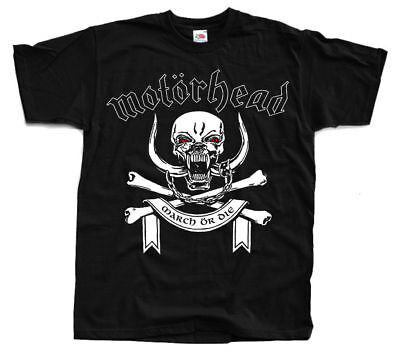 MOTORHEAD March or die T shirt BLACK All Sizes S - 5XL x