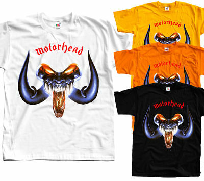 MOTORHEAD Rock and Roll T shirt (White, yellow, orange) All Sizes S - 5XL x
