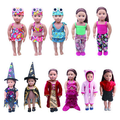 Clothes for 18'' American Doll Doll  My Life Doll Outfits Pajamas