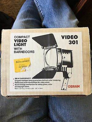 Osram German Video Light 300 Watt model 301 vintage