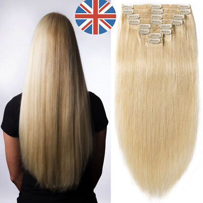 170g Deluxe Extra Thick Double Weft Clip In Remy Human Hair Extensions UK