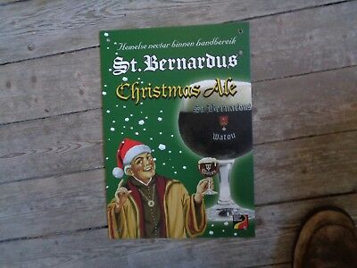 St Bernardus Christmas ale reclame beer sign PVC new Watou