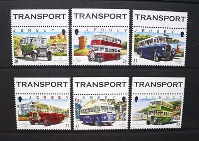 JERSEY 1998 Motor Transport Company Buses. Set of 6. Mint Never Hinged SG844/849