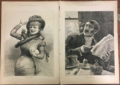 The Illustrated London News Christmas Number, 1881-Two large pictures & text
