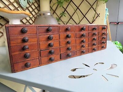 Antique watchmakers cabinet collectors chest 30 drawers tool box vintage ca 1900
