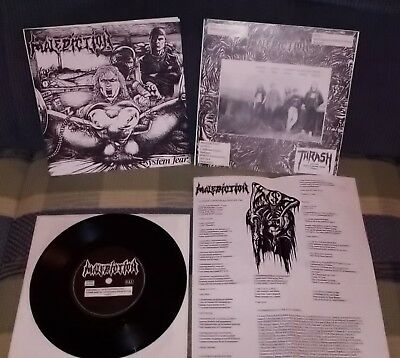 Malediction ‎  System Fear death metal single napalm death bolt thrower grind