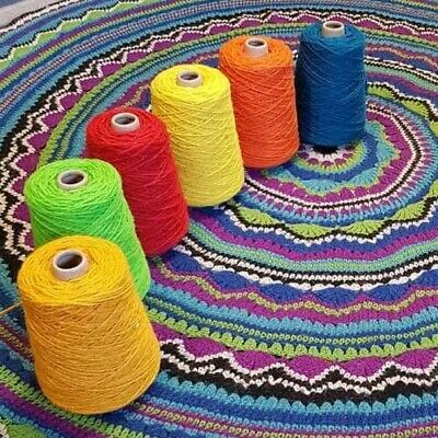 Wool Nylon Axminster Yarn, Rug Making, Weaving Crochet Tapestry Needlepoint 250g