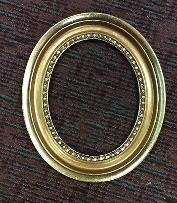 """NEW Oval Wood Photo Frame Only Gold Finish 8"""" x 10""""  *"""