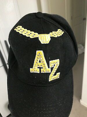 AZ Black Hat With Bling Woman's