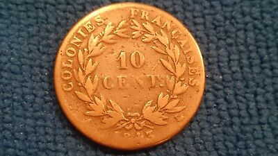 France 10 Cent 1843 A Colonie Louis Philippe