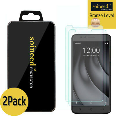 [2-Pack] SOINEED Tempered Glass Screen Protector Film For T-Mobile [REVVL Plus]
