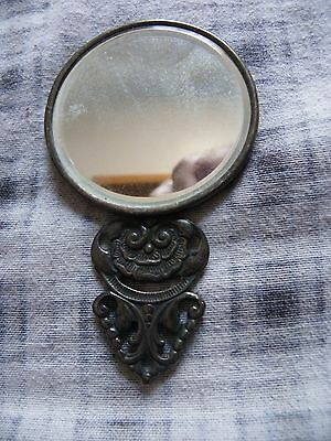 Great Antique Silver Plate Mirror