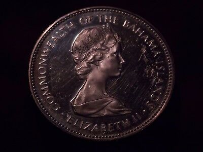 Bahamas Silver $2 Dollars Coin Dated 1973 Proof