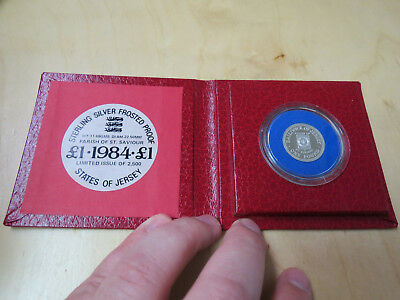 1984 States of Jersey Parish of St. Saviour Silver Proof £1 Coin