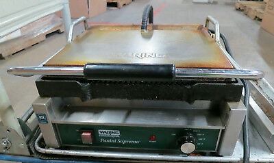Waring Commercial Panini Supreme WPG250 Grill 120V 1800W Tested Working