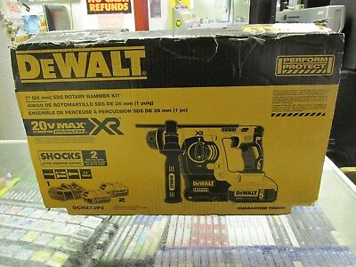 "NEW DEWALT DCH273P2 20V Max XR Brushless 1"" L-Shape SDS Plus Rotary Hammer Kit"