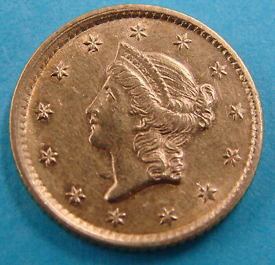 *very Nice 1854 $1.00 Gold Coin Classic Head - Estate Fresh*