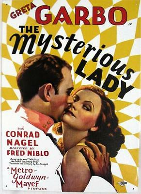 Greta Garbo The Mysterious Lady Movie Poster Hollywood Cinema Metal Sign