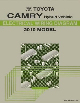 2010 toyota camry wiring diagrams schematics layout factory oem