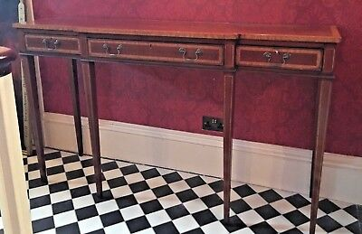 Antique Mahogany Georgian Hall Console / Long Side Table, English, Essex