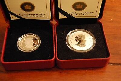 2013 $3 Fine Silver Coin - Martin Short Presents + $10 Fine Silver Maple Leaf