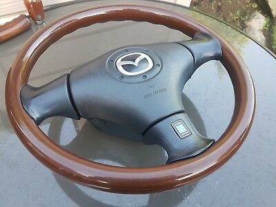 Mazda MX5 MK2 Wooden Nardi Steering Wheel Montana
