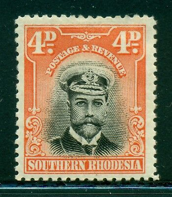 Southern Rhodesia MH Selections: Scott #6 4p Orange Red KGV (1924) CV$6+