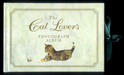 1997 CAT LOVERS PHOTO ALBUM - Illustrated in Color with Cut Out Photo Displays