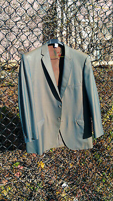 1960s Vintage Men's Sharkskin Suit - Green / Gold / Light Blue