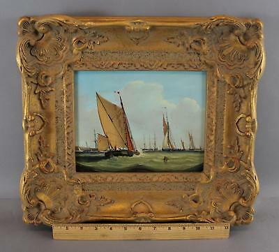 Small Authentic, ROBERT MOORE, French Sailboat Seascape Oil Painting, NR