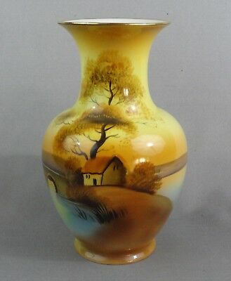 Nippon ( Old Noritake ) Beautiful Tree in the Meadow Vase.