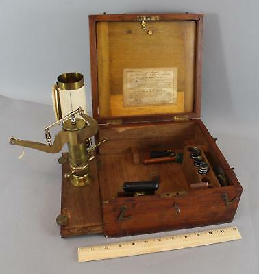 Antique 19thC Complete Richards Improved Patent Steam Engine Indicator, NR