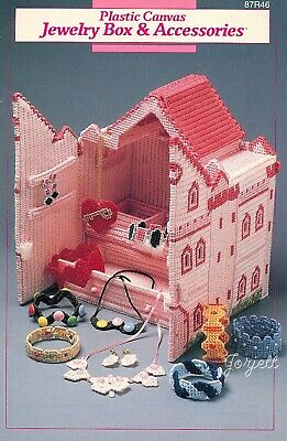 Jewelry Box Castle & Accessories, Annie's plastic canvas patterns OOP rare