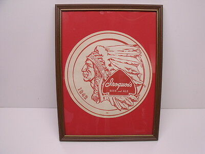 Framed 1955 Iroquois Beer Ale Tray Liner International Breweries Buffalo NY