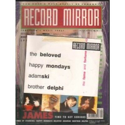 """RECORD MIRROR MARCH 3 1990 S/T MAGAZINE UK 1990 A4 Magazine With 4 Artist 7"""""""