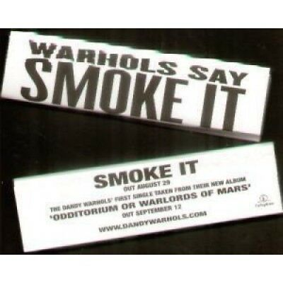 DANDY WARHOLS Smoke It PACK UK Parlophone Promo Only Pack Of Cigarette Papers