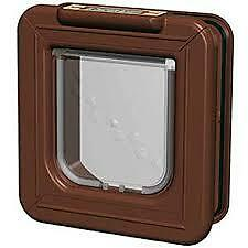 Cat Mate Elite Super Selective Pet Door, Electronic Id Entry With Timer - Brown