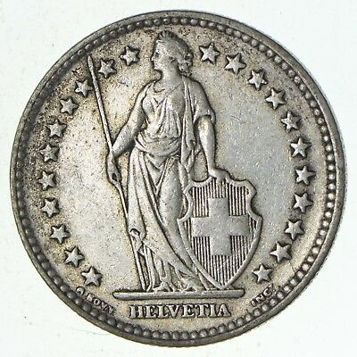 SILVER - 1939 Switzerland 2 Francs - World Silver Coin 10.1 Grams *066