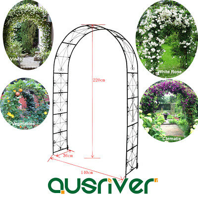 Garden Metal Arch Outdoor Gate 2.2M x 1.4M Plant Stand  Home Entry Wedding Decor