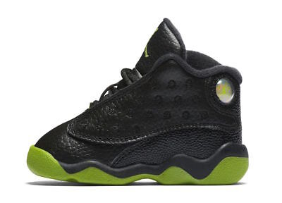 18cfc4a9837d AIR JORDAN 13 Retro (TD) 414581-035 Black Yellow Red Infant Toddler ...